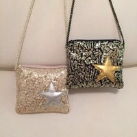 Bolsas De Dulces Estrellas Baratos-Everweekend Girls Fashion Sequins bolso de bolso de bolso de las estrellas bolsos Cross-Body bolsas de color caramelo Cross Sweet Children accesorios de moda