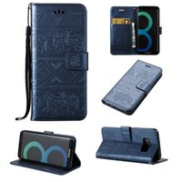 Wholesale Galaxy S3 Wallet Phone Cases - For Samsung Galaxy S3 S4 S5 S6 S7 Edge J3 J5 J7 A3 A5 2016 leather Wallet Phone Case Elephant Pattern Wallet Flip Cover Stand