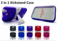 zte zmax casos al por mayor-Para LG G Stylo 3 ZTE Zmax Pro Kickstand Impact Hybrid Case 3 en 1 Robust Robot Holder Clip Protector para LG Tribute HD ZTE Avid Trio Coolpad