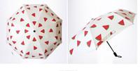 Wholesale metal lemon - Hot Cute lemon Banana cherry watermelon Rain folding Umbrella mini portable