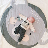 Wholesale Oval Carpets - Hot cartoon cotton children crawling mats koala games cushions round carpets children 's room decorations