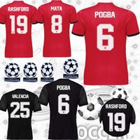 Men blinds home - S XXL Man United BLIND home red away black jerseys BAILLY MEMPHIS ROONEY POGBA mata Soccer jersey Champions League jersey