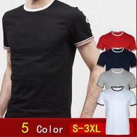 Wholesale Free T Shirts Designs - MC01 New Men Luxury Mon Brand T Shirt France Design Fashion Short Sleeve Casual Men's T Shirt Summer Gym T-Shirts free shipping