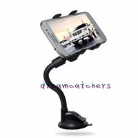 Wholesale Suction Cell - Universal Long Arm 360 Degree Rotating Car Windshield Flexible Suction Cup Mount Stand Holder Swivel for iphone Samsung LG Cell phone GPS