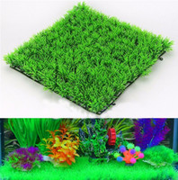 Wholesale Eco Friendly Aquarium Ornaments Artificial Water Green Grass Fine Needles Lawn Aquatic Aquarium Fish Tank Decoration Plant