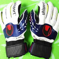 Wholesale Glove Guard - New Professional Thicken Breathable Non-slip latex Football Goalkeeper Gloves Goalie Soccer finger bone protection guard gloves