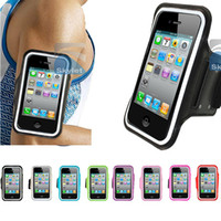 Wholesale Iphone 4s Running - Running Case ArmbandCase Fashion Case Workout Armband Holder Pounch For iphone 4 4S 5 5G 5C 5S Cell Mobile Phone Arm Bag Band GYM Fashion