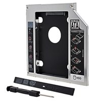 """Wholesale Hard Disk Aluminum Case - Wholesale- Hot Universal Aluminum Optibay 2nd HDD Caddy 9.5mm SATA 3.0 2.5"""" SSD Hard Disk Driver Case Enclosure for CD-ROM DVD ODD Adapter"""