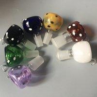ingrosso tubi assortiti-Maschio femmina accessorio fumante ciotola colorata per tubi d'acqua in vetro da 18 mm 14 mm. Bocce assortite