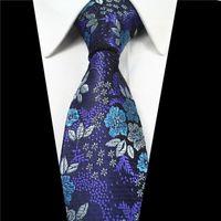 gemusterte paisley-blumenbindung groihandel-7 cm Männer Krawatten Seidenkrawatte herren Floral Krawatten Handgemachte Hochzeit Paisley Krawatte Hochwertige Geschäfts Krawatten Jacquard Muster Krawatte YZ-4