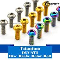 Wholesale Titanium Brake Rotor Bolts - 6pcs lot M8 x 20mm T40 Titanium Ti Disc Brake Rotor Bolt - Ducati Multistrada 1200