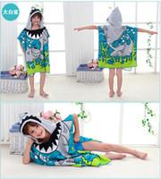 Wholesale fleece yarn - Kids Robes Cartoon Parttern Towels Fleece Bathrobe Unisex Kids Cute Robe Pajamas Sleepwear 5 P L