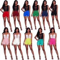 Wholesale Ladies Candy Color Pants - Summer Women Short Pants Lady Candy Color Buttons Skinny High Waist Shorts 2017 Fashion Casual Women Short KorteBroekjes Dames