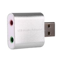 Blanco Color USB 2.0 externo 7.1 CH Virtual Audio adaptador de tarjeta de sonido Converter Notebook para Windows XP / Vista / 7/8, Mac, Linux