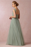 Reference Images A-Line Spaghetti New Arrival Chiffon Long Evening Dresses Mint Green Deep V-Neck Cap Sleeve Open Back Beaded Lace Prom Dress For Women Evening Dress