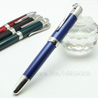 Wholesale Roller Clips Metal - Luxury Mon novelty Design Blue Roller ball pens with silver clip stationery office supplies Blance writing brand MB Pen