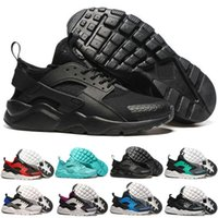 Wholesale Breathe Design - 2016 New Design Air Huarache 4 All Red Mesh Huraches Sneakers Ultra Breathe Men And Women Huaraches Running Shoes Size 36-46