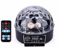 Wholesale Laser Display Color - Digital display with remote control LED crystal magic ball light acoustic 9 color crystal magic ball ktV laser stage lights