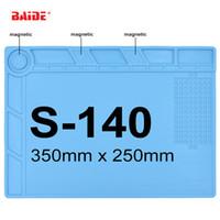 Wholesale Bga Repair - S-140 Heat-resistant Silicone Pad 35x25cm Repair Mat Heat Insulation BGA Soldering Repair Station with Magnetic 10pcs