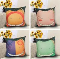 Wholesale clown cartoon - New Europe and America 4 styles cartoon face Pillowcase Clown Pillowcase household linen Pillowcase Sofa cushion IA713