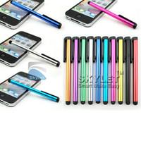 pantallas de tableta universal al por mayor-Lápiz capacitivo de la pantalla táctil de la pluma de la pluma para el envío libre del teléfono / iPhone Samsung / Tablet PC del ipad