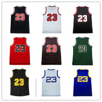 Wholesale Cheap Men S Gold - Men's 100% Stitched Top quality #23 Jerseys Classical Black Red White Basketball Jersey embroidered Logos Cheap sports shirts