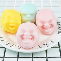 Wholesale Gifts For Geeks - Emotion Soft Vent Toy Human Face Anti-stress Ball Stress Relieve Relax Toy Colorful Geek Gadget Funny Novelty Gift For Children Boy