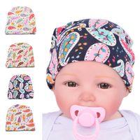 Wholesale Boy Maternity - Maternity Infant hat Paisley baby boy girl knit Hat Cap newborn hat Accessories cotton Autumn winter 0-3months 2016 wholesale Quality