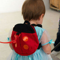 ingrosso cinture di sicurezza per bambini-2 Stili Baby Kid Keeper Toddler Cintura di sicurezza Zaino Borsa Strap Rein Baby coccinella Anti-perso Walking Wings Borse Zaini B