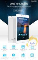 mtk 2g 3g llamada tablet pc al por mayor-Más nuevo Cube T8 Plus Dual 4G Llamada de teléfono Tablet PC Octa Core 2 GB RAM 16 GB ROM 8 pulgadas Android 5.1 MTK8783 1920 * 1200 IPS Pantalla GPS