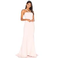 Wholesale Thin Bridesmaids Dresses - 2017 New Brand Formal Style Mermaid Bridesmaid Dress Thin Straps Floor Length Maid of Honor Dress