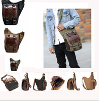 Wholesale men bag online - Fashion Men Canvas Military Camping Cross Body Sling Messenger Shoulder Bag Sling Crossbody Shoulder Package KKA2327
