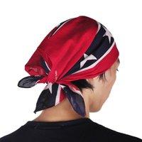 pamuk örtüleri toptan satış-Confederate Rebel Bayrak bandanalar do-paçavra headwraps İç Savaşı Bayrak Yetişkin Için Bandana 54 * 55 cm Bandana Kafa Ulusal Polyester Pamuk