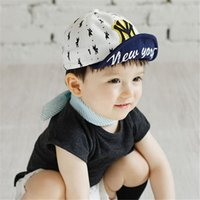 Wholesale Gril Baby - Wholesale- Baby Boy Gril Puppy Printed Letter Baseball Cap Kids Hip-hop Sun Hat Baby Brands