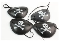 Wholesale Kids Eye Patches - Pirate Eye Patch Skull Crossbone Halloween Party Favor Bag Costume Kids Toy