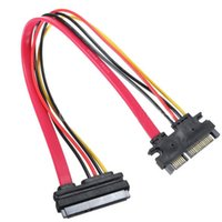 câble d'extension sata de 15 broches achat en gros de-En stock 30CM Nouveau câble à 22 broches à femelle 7 + 15 broches SATA Data Power Combo Extension Cable
