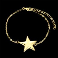 Wholesale 18k gold bangles stars for sale - Group buy K Gold plated fashion jewelry Star bangles BKH005
