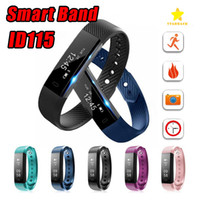 Contador Táctil Baratos-ID115 Smart Band Pulsera Fitness Tracker Watch Pantalla táctil inalámbrica Sleep Monitor Actividad Paso Distancia Calorie Counter para Android / IOS