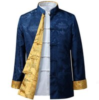 Wholesale Chinese Style Jackets Men - chinese style man jacket Typical fsashion customized men outerwear HY005