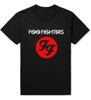 Wholesale Ff Pink - Wholesale- New Fashion Foo Fighters Hard Rock And Roll Band T Shirts FF Letters Printed Dave Grohl Guitarist Nirvana T-shirt Top Tees
