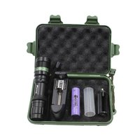 Wholesale T6 Bicycle Flashlight - Zoomable Bicycel Flashlight Hand hold high power T6 bicycling hunting equipment lighting led tactical 500M flashlight 5000Lumens