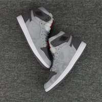 Wholesale Retro Shadow - 2017 New Retro 1 High Prm Shadow Camo Wolf Grey Reflective mens Basketball Shoes men cheap 1s Sneakers high quality with shoes box