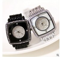 Wholesale Crystal Square Beads Bracelets - 2017 Arrival Famous Brand Custom Watch Luxury Women Watch Lady Square Watch Rhinestone Full Crystal Charm Bangle Bracelet Bead