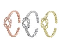 Wholesale Stacking Bangles - 2017 New waves Knot Bracelet Knot Bracelet Stack Bangle Cuff Adjustable Cuff In Silver Or Gold Jewelry gift