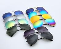 Wholesale Over Sunglasses - Hot sunglasses Popular All over the world Classic anti-reflective color film sunglasses retro bright tide people sunglasses