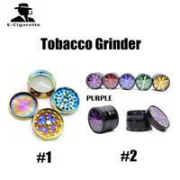 Wholesale Retail Tobacco - 4 Layer Tobacco Grinder 63mm Diameter Rainbow Colorful 4 Layer Tobacco Grinder With Retail Box 0213171
