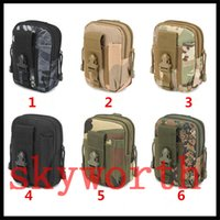 Wholesale Yellow Molle - Universal Outdoor Tactical Holster Military Molle Hip Waist Belt Bag Wallet Pouch Purse Phone Case with Zipper for Cellphone iphone