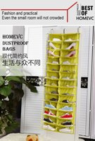 black closet organizer - 26 Pockets Transparent Hanging Closet Layers Foldable Door Hanging Shoes Storage Bag Multi purpose Hanging Bag Excellent Shoes Organizer