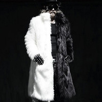 Wholesale Casual Male Jackets - Mens Winter Long Coats Fox Fur Manmade Mink Fur Jackets Casual Overcoats Male Plus Size Outwears plus size 5XL free shipping