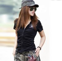 Wholesale Summer fashion casual women s T shirt outdoor sport camouflage T shirt for camping and hiking